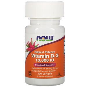 Now Foods витамин Д3