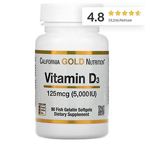 California Gold Nutrition, витамин D3