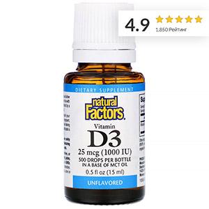 Natural Factors, Витамин D3 в каплях